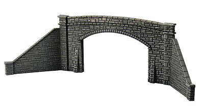 PECO ZK-234 'Z' Gauge 2 x Stone Double Track Bridge Sides +Wings Plastic Kit 1st