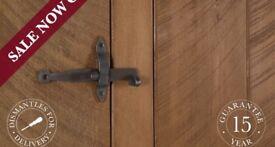 Indigo furniture plank double wardrobe pine chunky storage