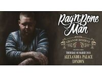 2x Rag 'n' Bone Man Tickets: 8th March at Alexandra Palace