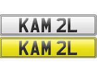 DVLA issued Prestigious Private Number Plate KAM 2L