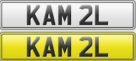 DVLA issued Prestigious Private Number Plate KAM 2L