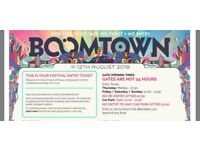Boomtown Fair ticket 2018