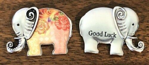 GANZ Lucky Little Good Luck Elephant Charm Pocket Token Rainbow Colors w/Card  F