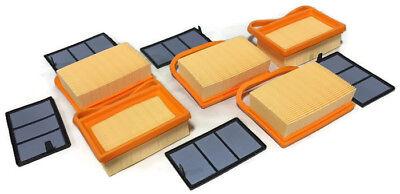 5 Pk Pz Air Filter Set For Stihl Ts410 Ts420 Ts480i 4238-141-0300 4238-140-1800