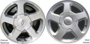 set of 4 x 6 lug  16 inch Chev aluminum rims with centers