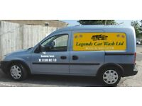Fully equipped mobile car wash van