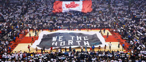 2-4 Toronto Raptors Tickets - S301 R4 + S310 R13 (All Season)