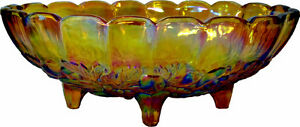 Iridescent Indiana Glass Fruit Bowl from 1950.s PLUS MORE