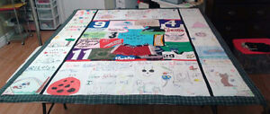MEMORY QUILTS MADE FROM YOUR BABIES/CHILDS/LOVED ONES CLOTHING