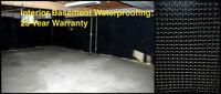 LEAKY BASEMENT? WATERPROOFING - BEST PRICE!  905 517 1411