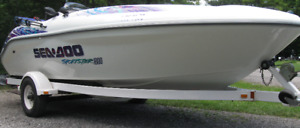 Seadoo 18 ft Sportster and trailer