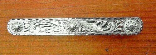Western engraved silver Horse Show saddle blanket parade event Number bar