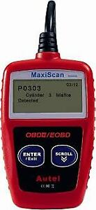 OBD2 Code Reader Code Definition On-Screen MS309
