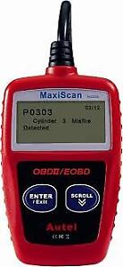 OBD2 Code Reader On-screen Display Code Explanation MS309