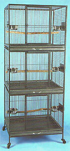 TRIPLE STACK BIRD CAGES x 2 AVAILABLE, IN EXELLENT SHAPE!