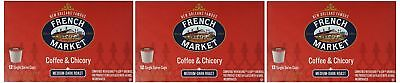 French Market Coffee, Single Serve K-Cups, Medium Dark Roast Coffee and (French Medium Roast Coffee)