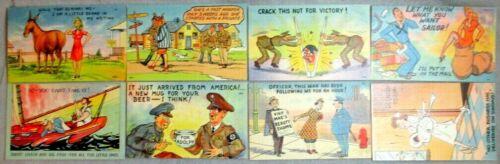 8 U.S. WW II Original Unused Postcards in Excellent Condition