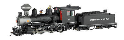 Bachmann On30  28657 Greenbrier & Big Run Lumber Co. #31 Steel Cab - 4-6-0 - DCC