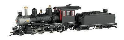 Bachmann On30  28698  BLACK, UNLETTERED W/STEEL CAB & PAINTED TRIM - 4-6-0 - DCC