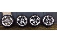 "Genuine Audi A3 2014 s-line 18"" alloys with continental tyres"
