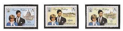 (13473) Anguilla MNH Princess Diana Royal Wedding 1981 U/M Mint