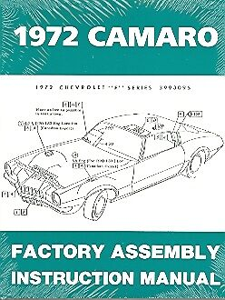 1972 72 Camaro Factory Assembly Manual