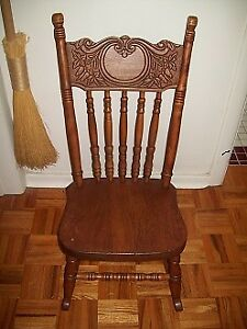 ANTIQUE CHILDS PRESS BACK ROCKER / ROCKING CHAIR