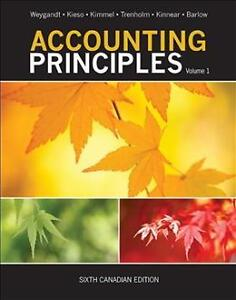 Accounting Principles, by Weygandt, 6th Canadian Edition