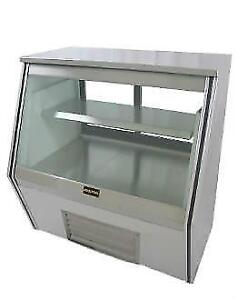 "Refrigerated Counter Deli Display Case 117"" NEW"