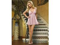 Pleated Babydoll & Thong