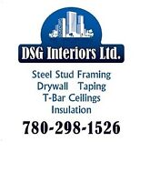 STEEL STUD FRAMING DRYWALL TAPING T-BAR RESIDENTIAL & COMMERCIAL