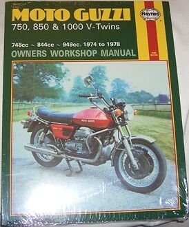 Haynes Workshop Manual for MOTO GUZZI 750 850 1000 1974 to 1978 T T3 Le Mans