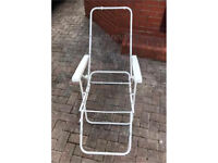 Garden or Camping Metal Foldable Deck Chair with armrests. quick sale