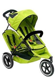 Phil and teds sport apple double buggy