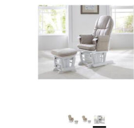 Nursing rocking chair and footstool baby nursery