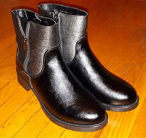 Brand New Boots - Women's Size 9 - Faux Black Leather, Very Nice