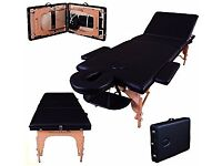 Portable Massage Table Couch Bed Spa - Massage Imperial Lightweight Professional Black 3-Section