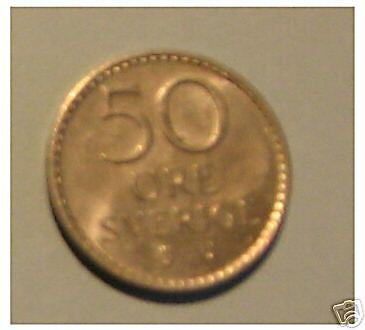1 x 50 ores  1973   Suède