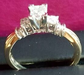 Diamond Engagement Ring - Never Worn. Size N - O