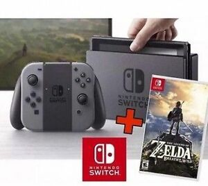 Nintendow Switch with Zelda Breath of the Wild