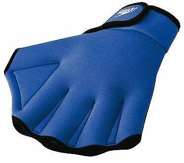 Speedo Aqua Fit Swim Training Gloves Royal Large