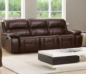 WOW!!! Amax Leather Power Reclining Sofa LOOK!!!