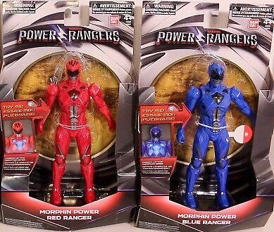 NEW POWER RANGER SERIES FIGURINES IN RED OR BLUE