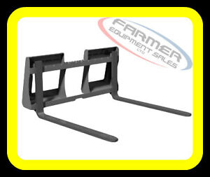 Skid Steer quick attach PALLET FORKS, 1200lb capacity IN STOCK !
