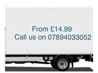 From £14.99 24/7 Short notice Man and Van hire removal services house movers and handyman driver