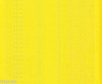 Zier-Sticker-Bogen-versch. dünne Ränder-gelb-306ge