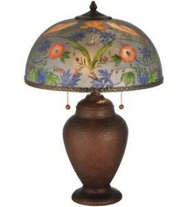 Reverse Painted Table Lamps