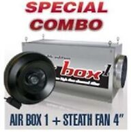 """Airbox 1 / Stealth 4"""" In-line Fan Combo"""