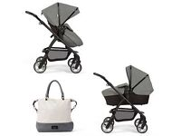 SILVER CROSS LIMITED EDITION WAYFARER ETON GREY PRAM 1 YEAR OLD USED BUT GOOD CONDITION.