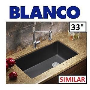 "NEW BLANCO GRANITE  KITCHEN SINK - 122465977 - 33"" DIAMONT DOUAL MOUNT 33"" ANTHRACITE"